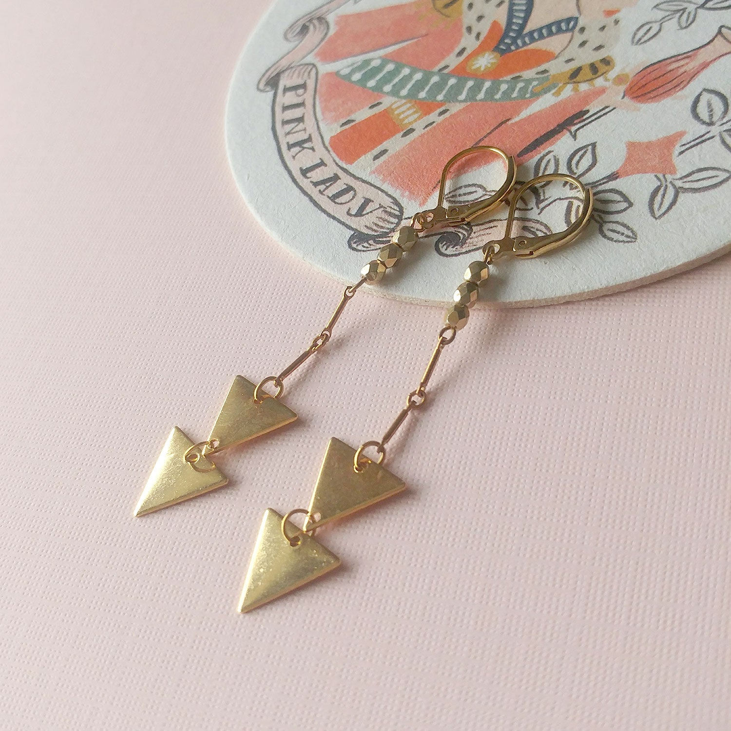 triangle earrings chevrons