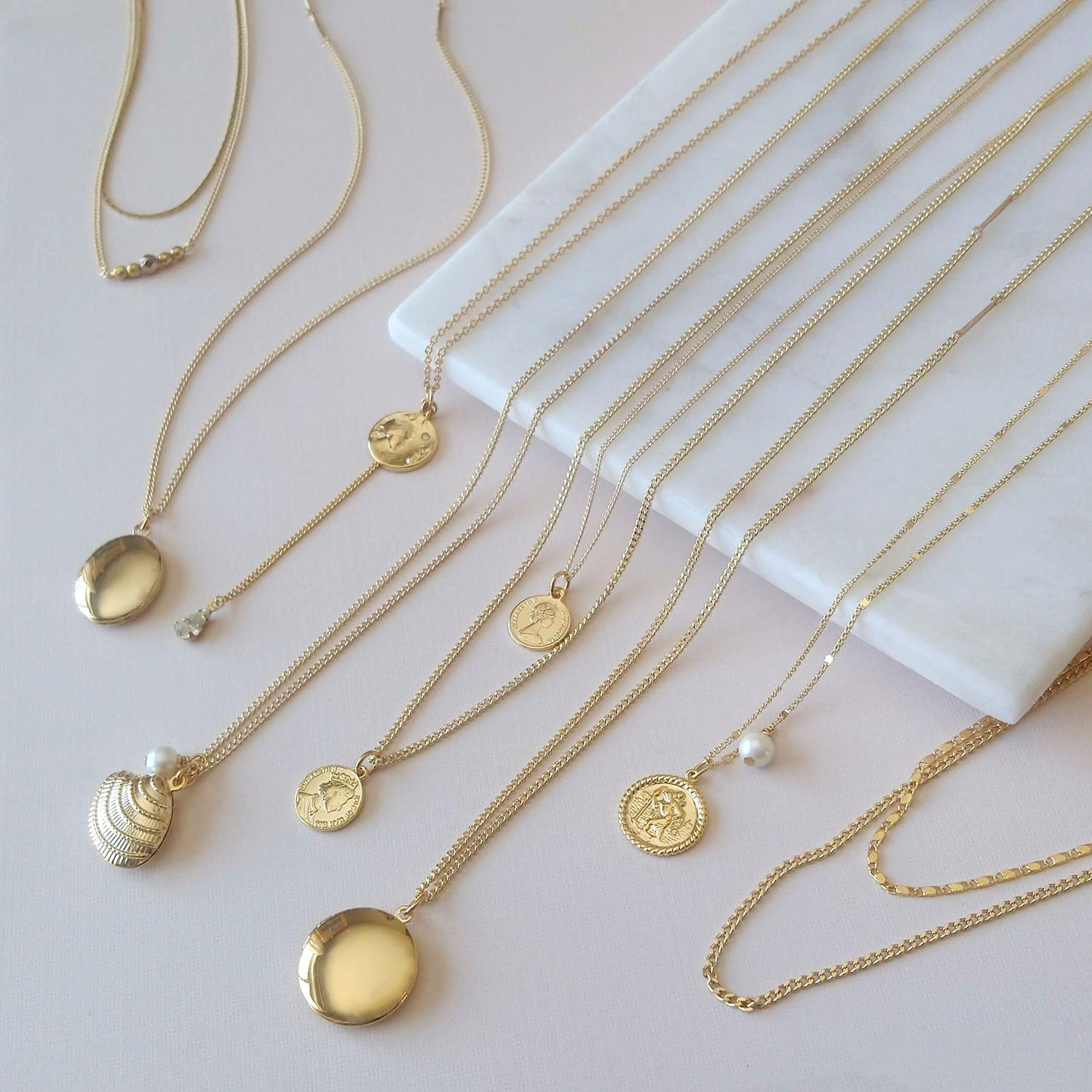gold locket necklaces