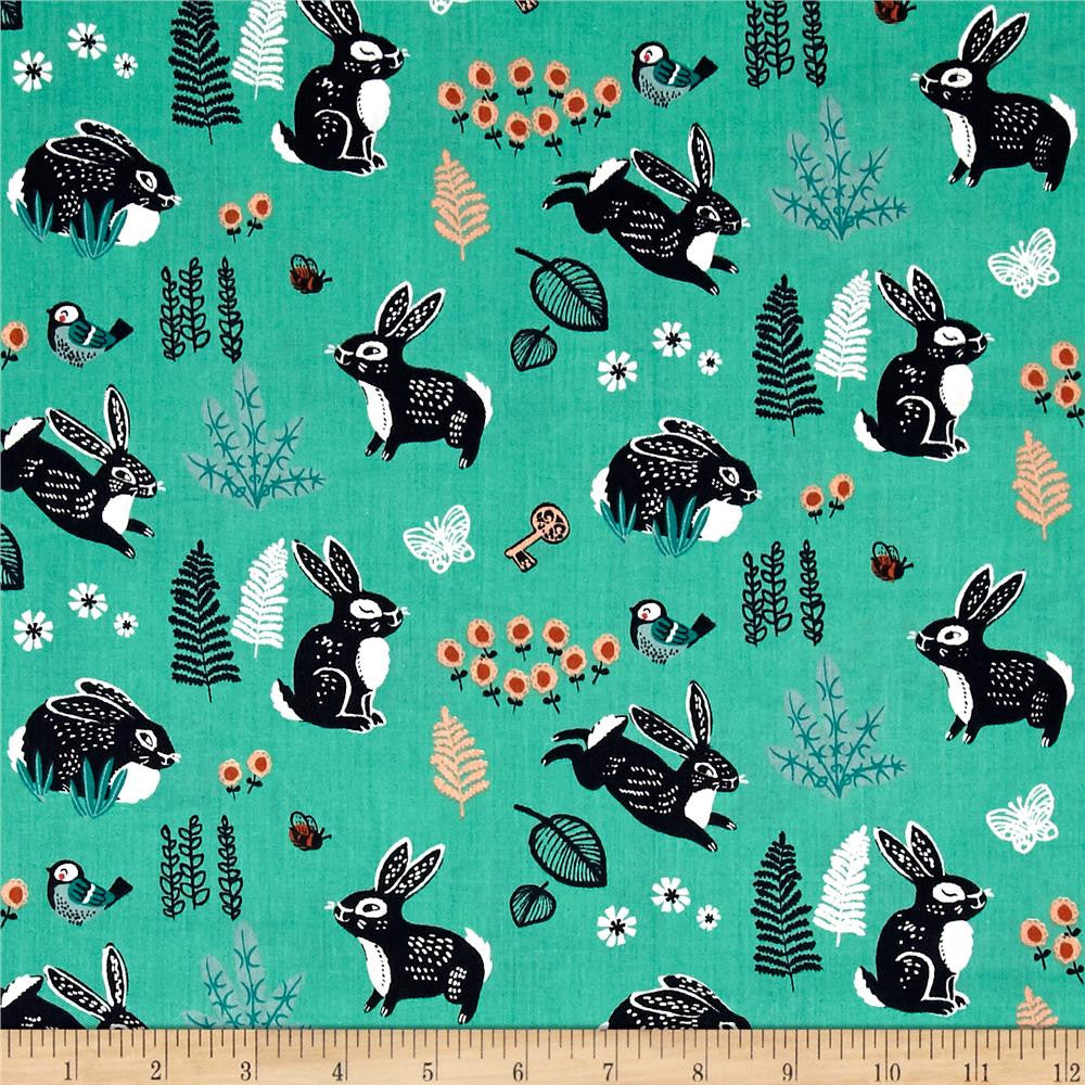 Bunny Hop in Green Made-to-Order Bag - Ewe Sew An Sew