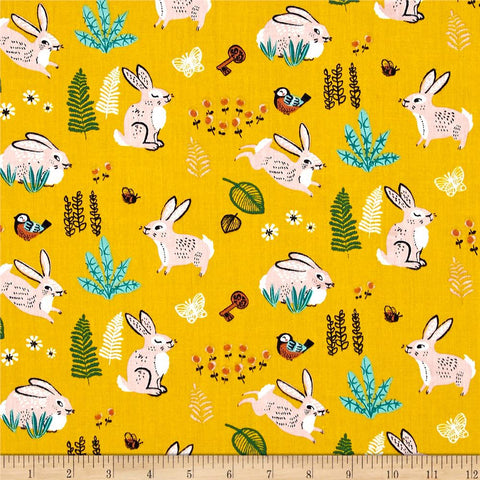 Bunny Hop in Marigold Made-to-Order Bag - Ewe Sew An Sew