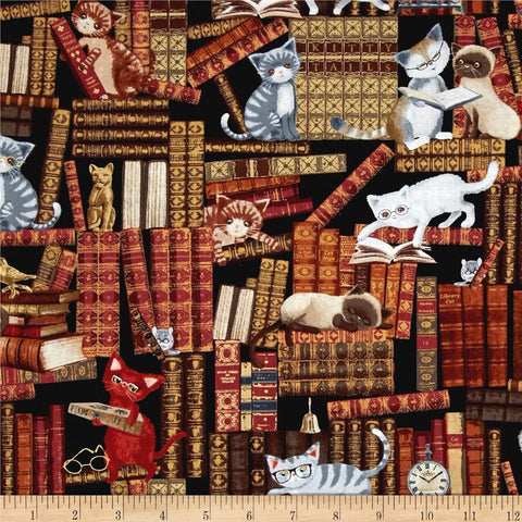 Cats in the Library Made-to-Order Bag - Ewe Sew An Sew