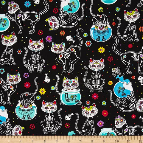 Day of the Dead Cat Made-to-Order Bag - Ewe Sew An Sew