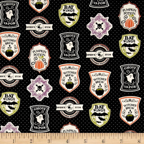 EEK BOO Shriek Badges in Black Made-to-Order Bag