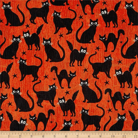 Cats in Orange Made-to-Order Bag - Glow in the Dark