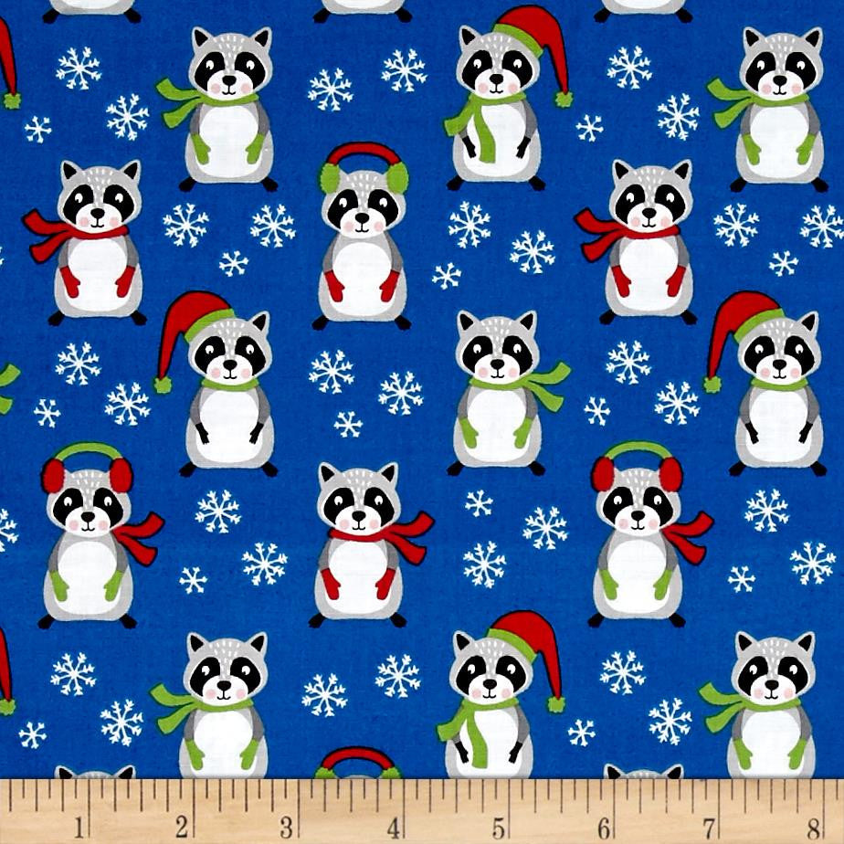 Frosty Friends - Raccoons in Blue Made-to-Order Bag