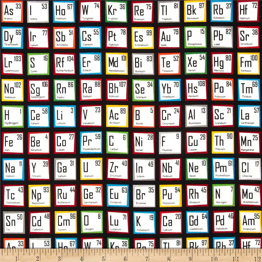 Periodic Table in Multi Made-to-Order Bag - Ewe Sew An Sew