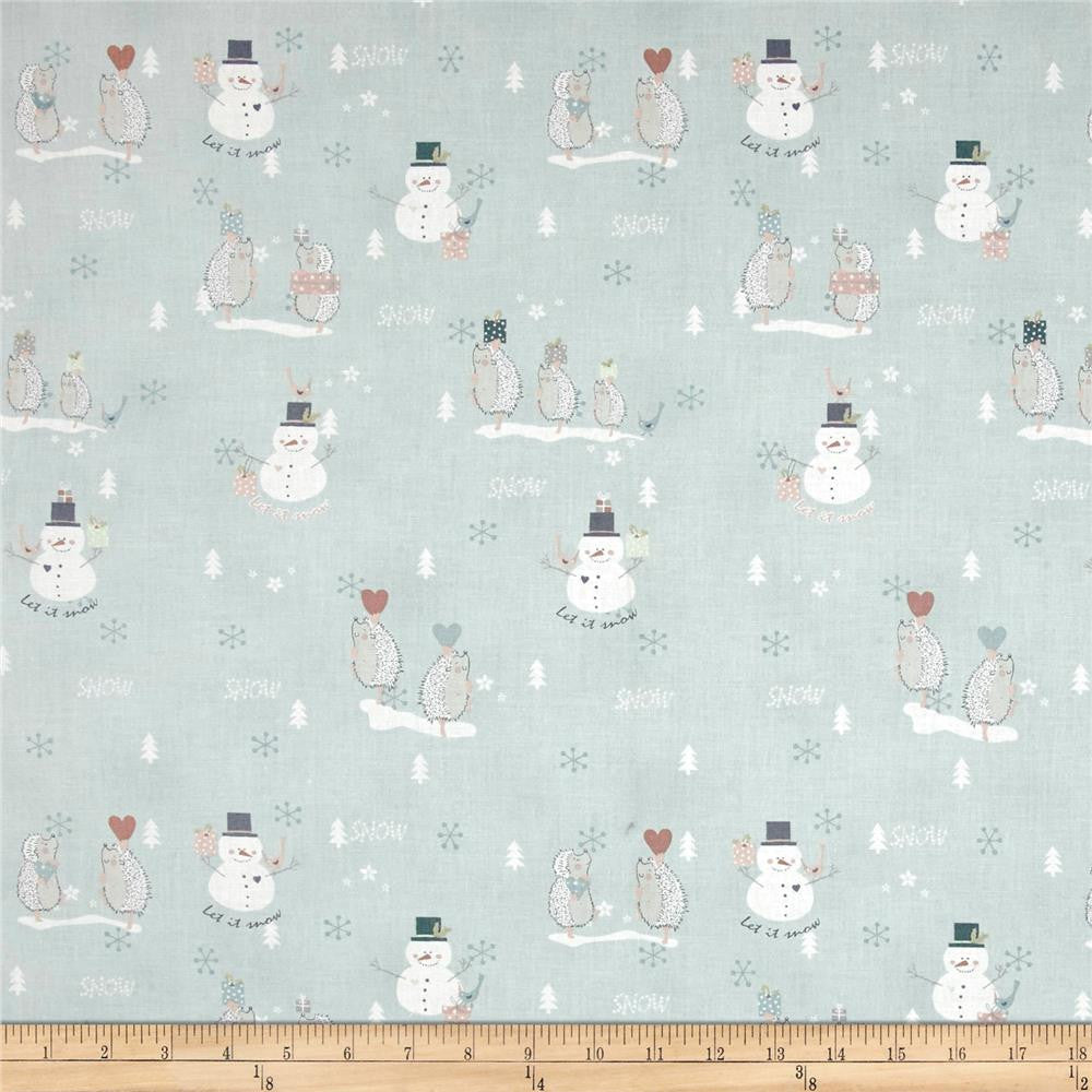 Snowmen & Porcupines in Blue Made-to-Order Bag