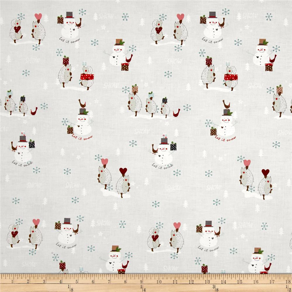 Snowmen & Porcupines in Grey Made-to-Order Bag