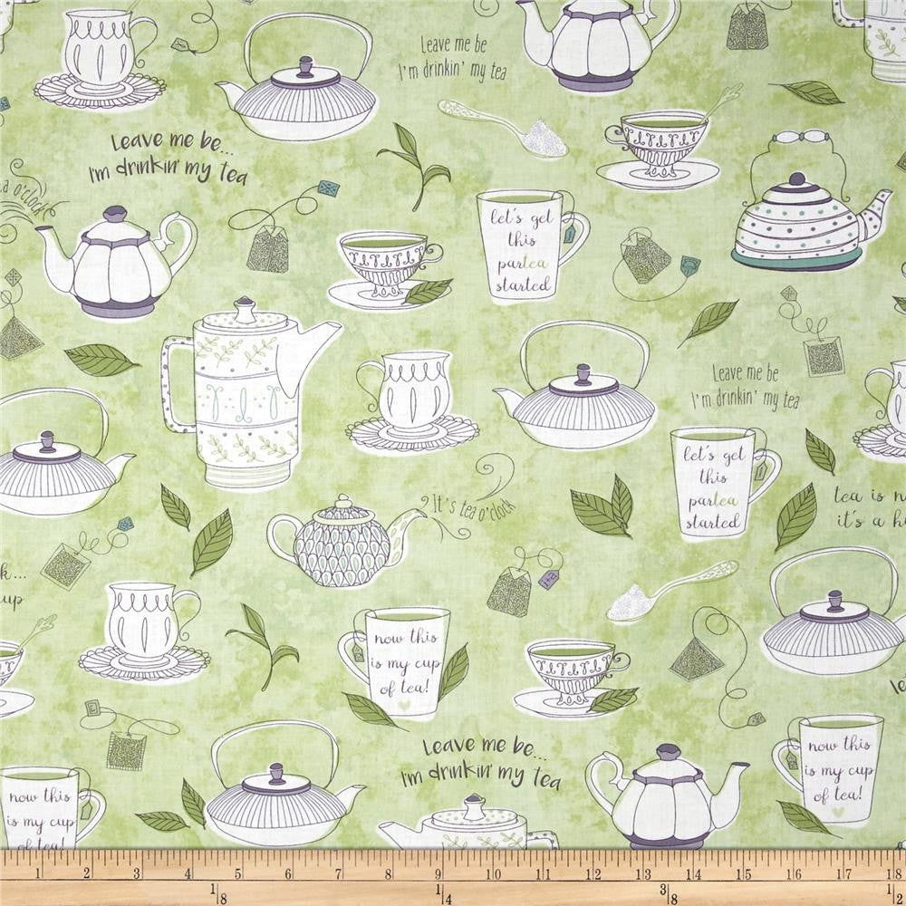 Tea Talk in Green Made-to-Order Bag - Ewe Sew An Sew