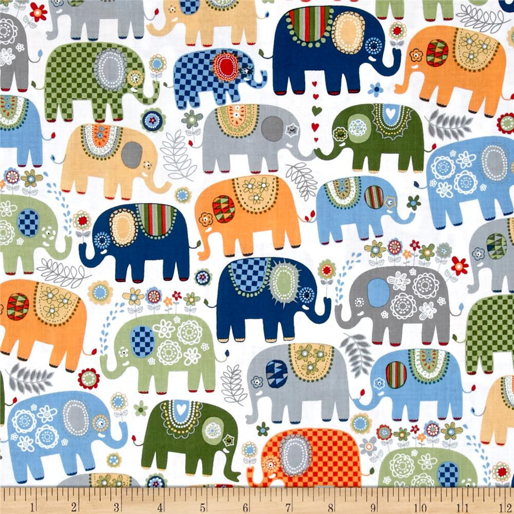 Happy Elephants in Cheer Made-to-Order Bag - Ewe Sew An Sew