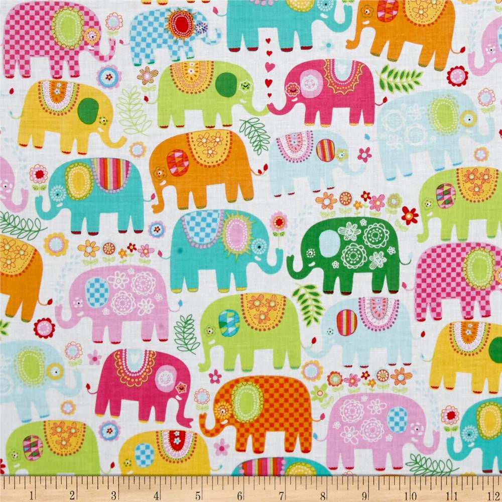 Happy Elephants in Happy Made-to-Order Bag - Ewe Sew An Sew