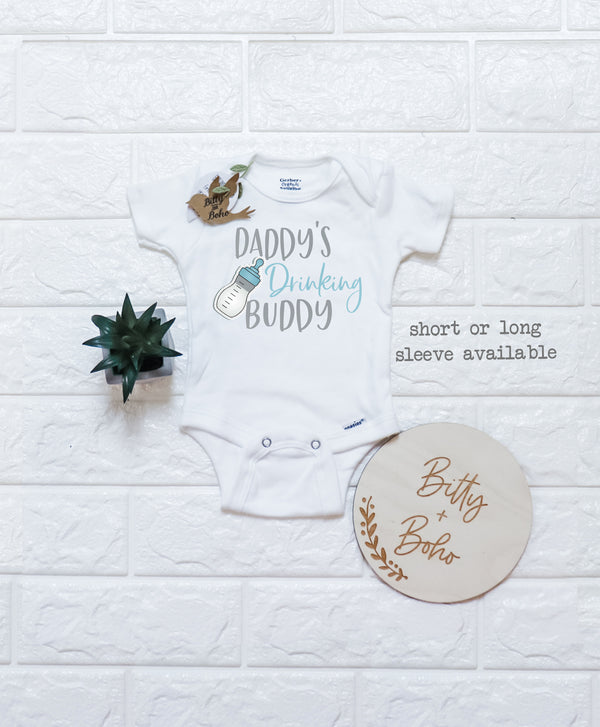 Daddy's Drinking Buddy Onesie® - Bitty & Boho