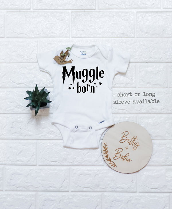 Muggle Born - Harry Potter Onesie® (or T-Shirt) - Bitty & Boho