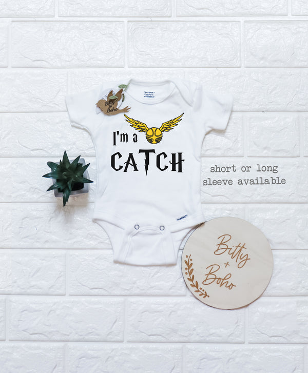 I'm a Catch - Harry Potter Onesie® (or T-Shirt) - Bitty & Boho