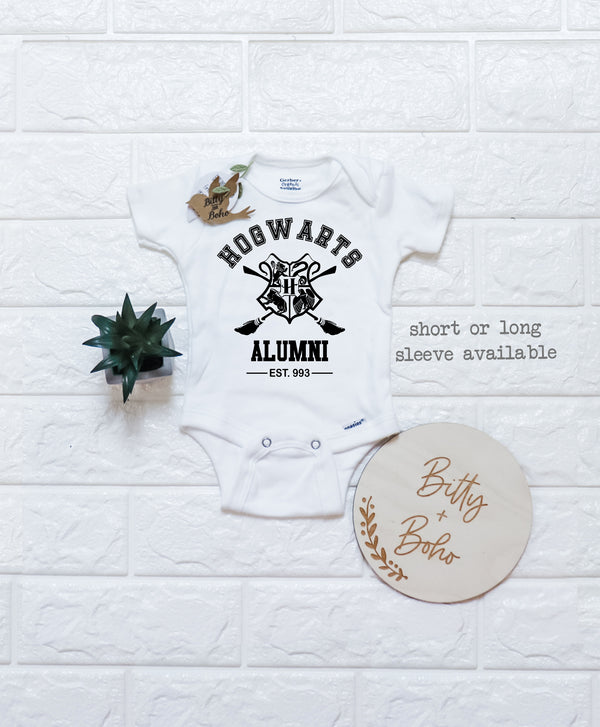 Hogwarts Alumni - Harry Potter Onesie® (or T-Shirt) - Bitty & Boho
