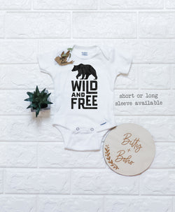 Wild and Free Bear Onesie® - Bitty & Boho