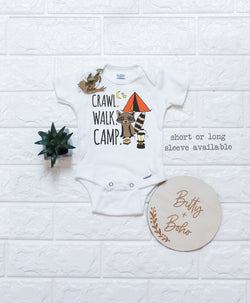 Crawl Walk Camp Onesie® - Bitty & Boho
