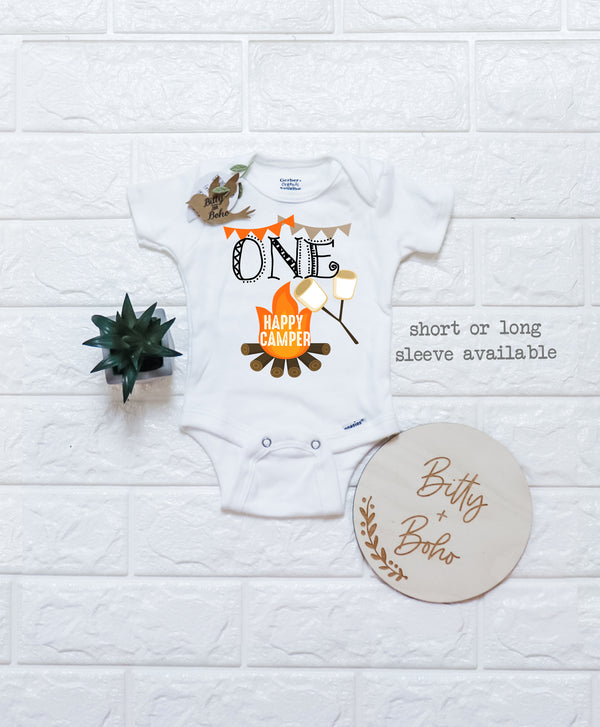 One Happy Camper Onesie® - Bitty & Boho
