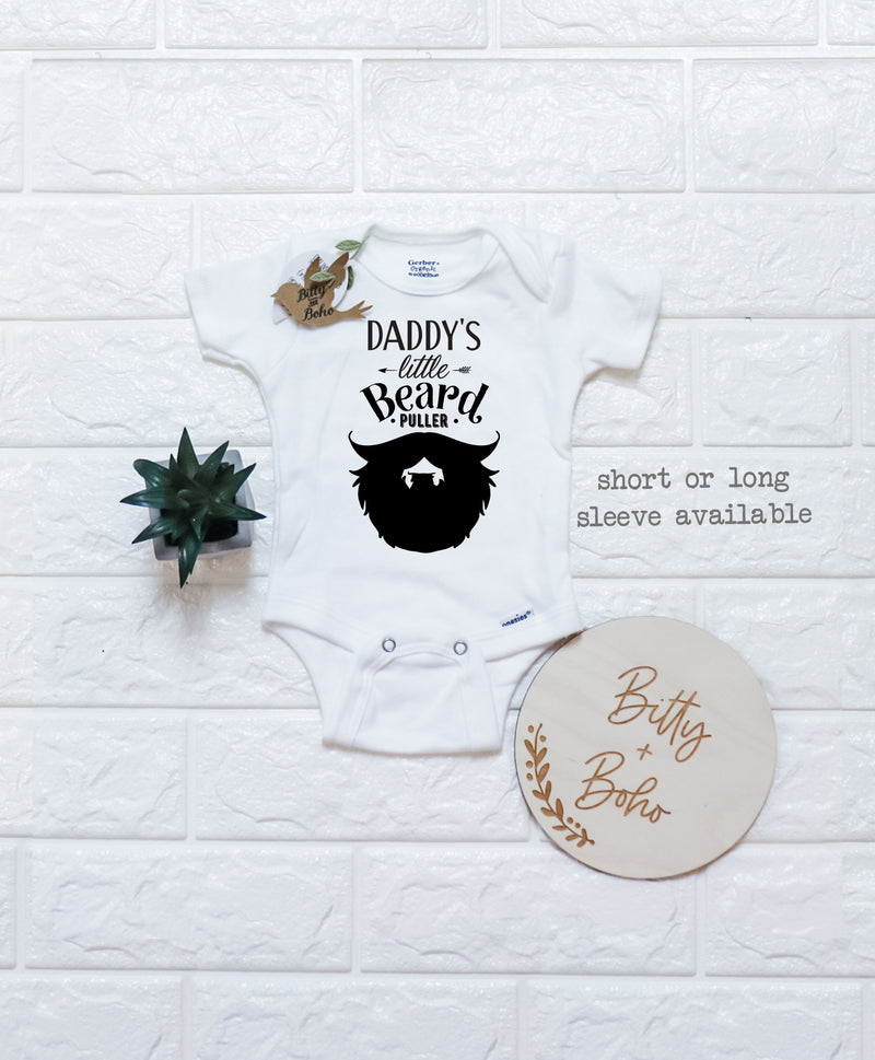 Daddy's Little Beard Puller Onesie® - Bitty & Boho
