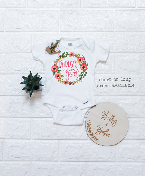 Daddy's Girl Onesie® - Fathers Day Gift From Baby - Bitty & Boho