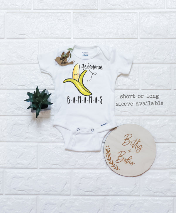 Funny Banana Onesie® - Hipster Baby Clothes - Bitty & Boho