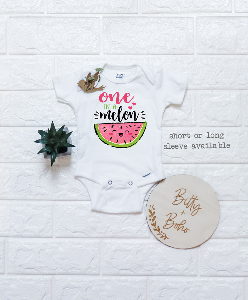 One In A Melon- Watermelon Onesie® - Bitty & Boho