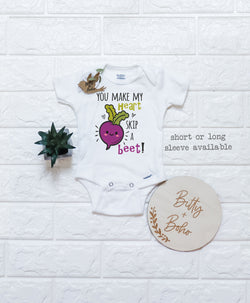 You Make My Heart Skip a Beet Onesie® - Bitty & Boho