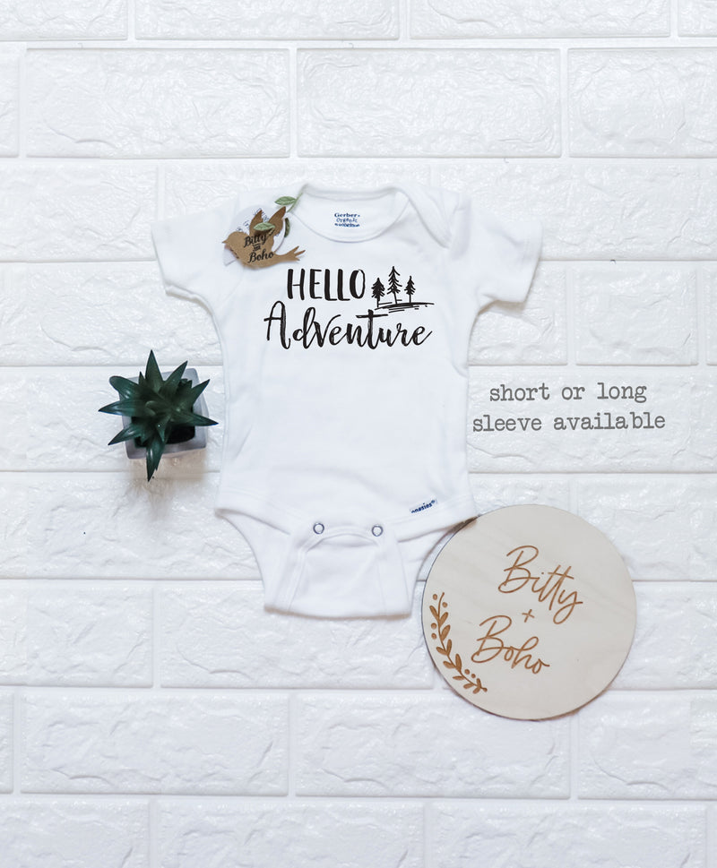 Hello Adventure Onesie® - Bitty & Boho