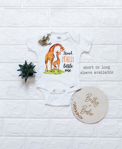 Stand Tall Little One - Giraffe Onesies® - Bitty & Boho