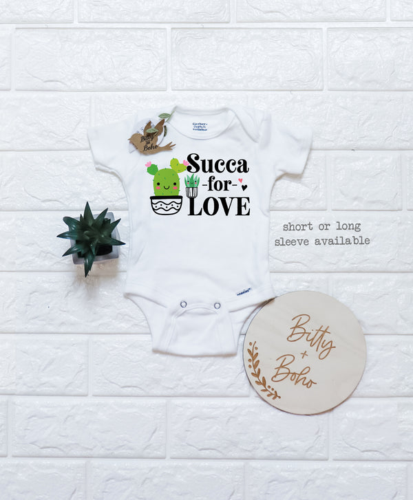 Succa For Love - Cactus Onesie® - Bitty & Boho