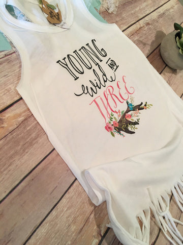 Young Wild & Three - Third Birthday Fringe Dress