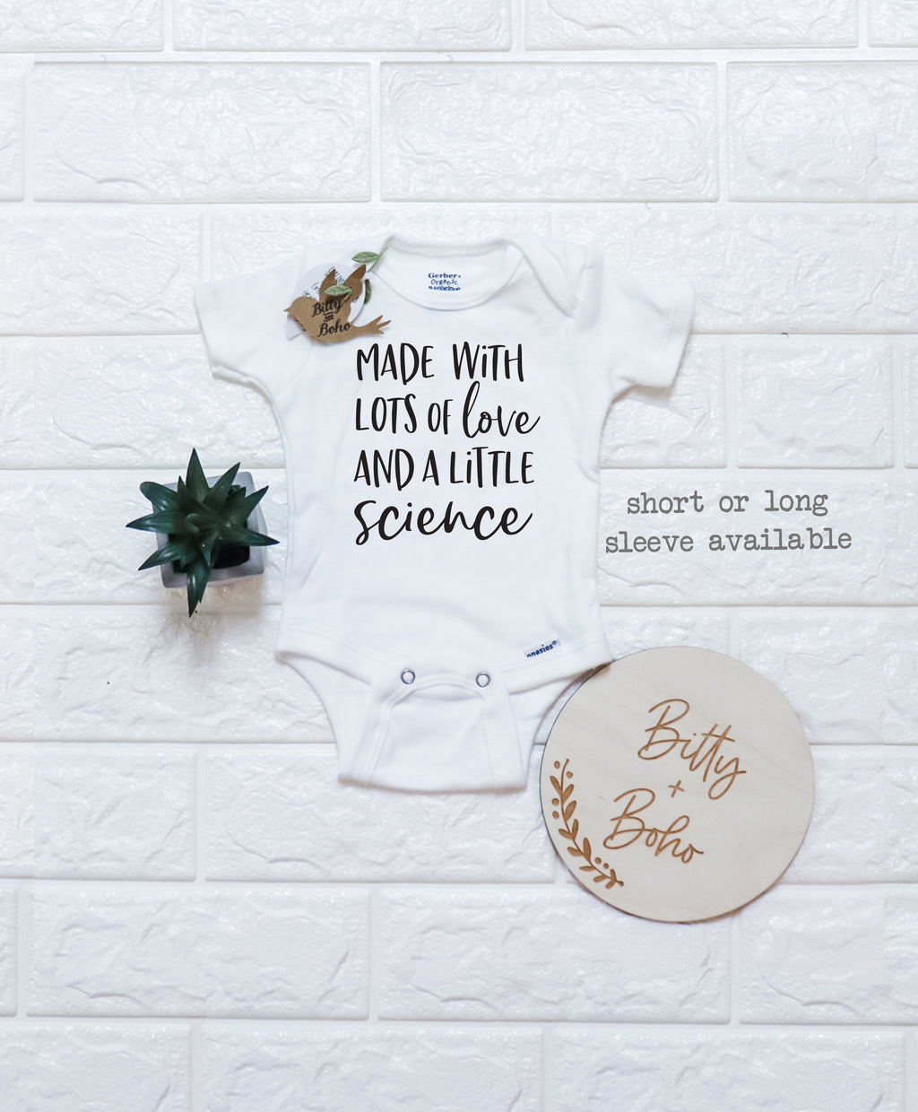 Baby Shower gift IVF Baby Bodysuit Made with Lots of Love and a Little Bit of Science IVF Baby Onesie Pregnancy Announcement IVF