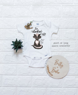 So Stinkin' Cute - Skunk Onesie® - Bitty & Boho