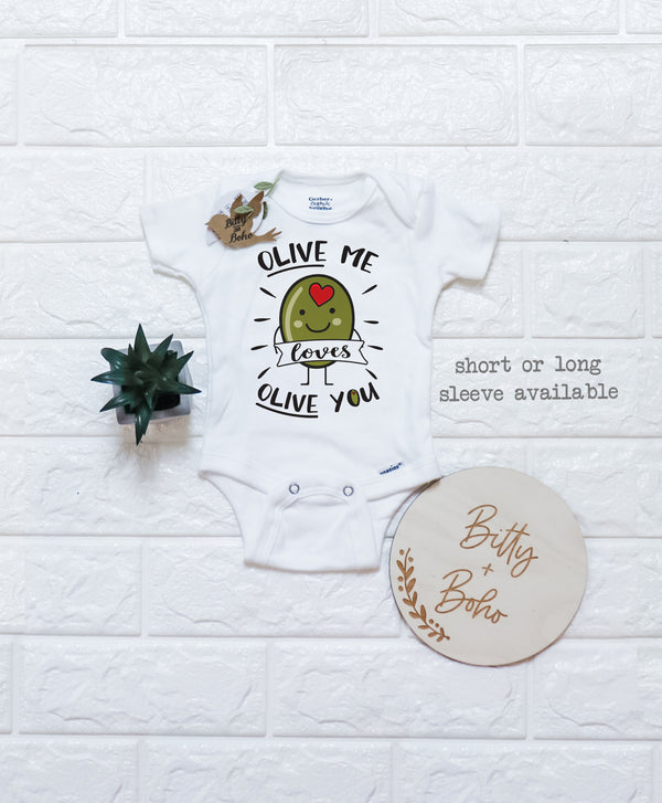 Olive Me Loves Olive You Onesie® - Bitty & Boho