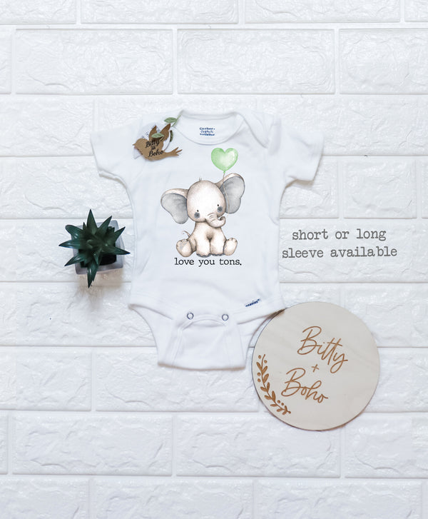 Love You Tons - Elephant Onesie® - Bitty & Boho
