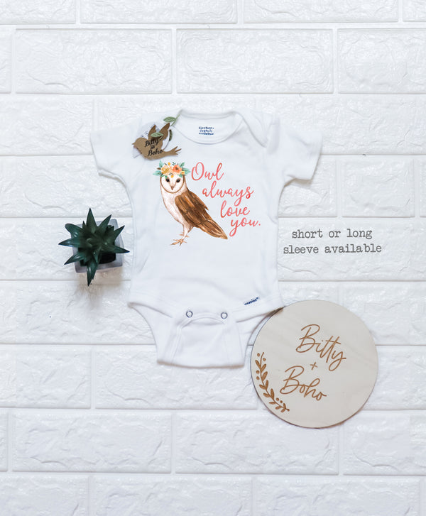 Owl Always You Onesie® - Bitty & Boho