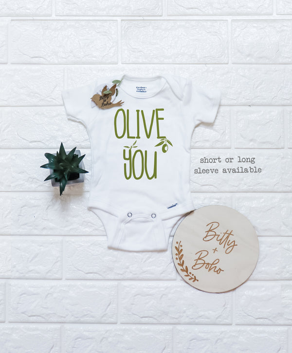 Olive You Onesie® - Bitty & Boho