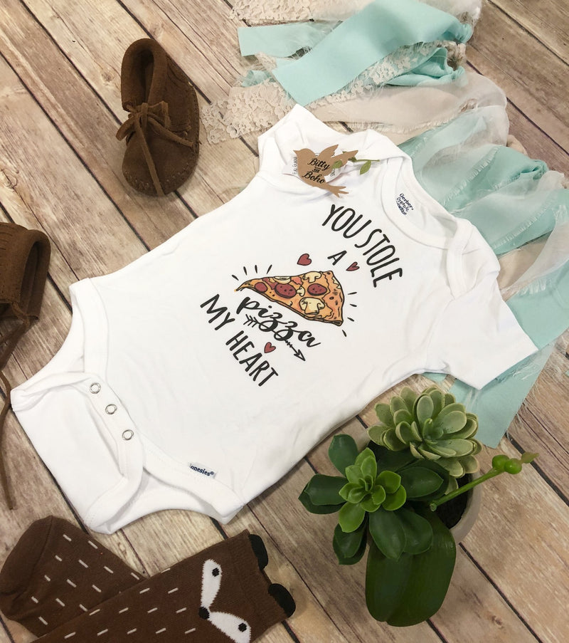 You Stole a Pizza My Heart - Pizza Onesie® - Bitty & Boho