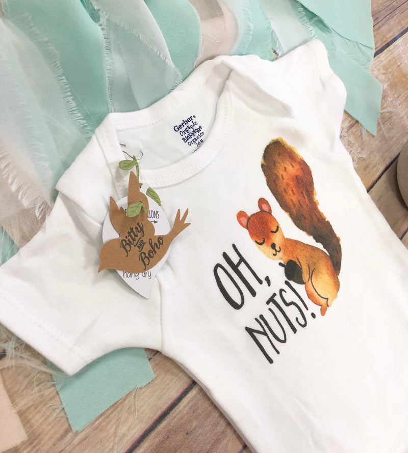Oh Nuts - Squirrel Onesie® - Bitty & Boho