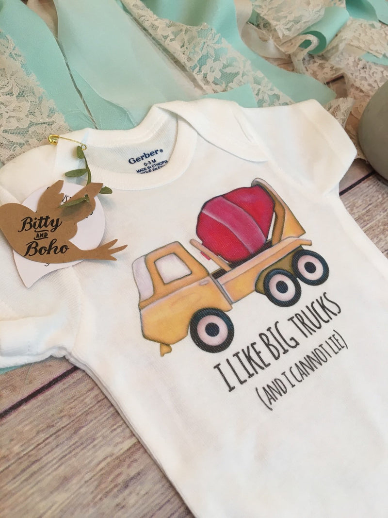 I Like Big Trucks and I Cannot Lie Onesie®, Baby Boy Clothes, Baby Shower Gift, Hipster Baby Clothes,Funny Onesies,Cute Onesies,Truck Onesie - Bitty & Boho