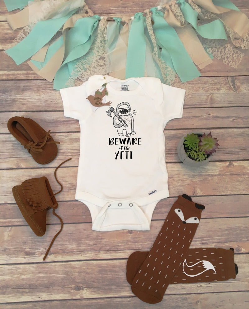 BEWARE of the YETI - Hipster Baby Onesie® - Bitty & Boho