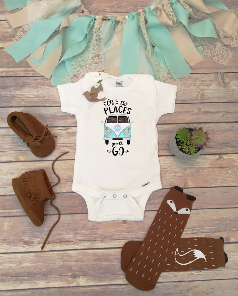 Unique Baby Gift, Oh The Places You'll Go Onesie®, Hipster Baby Clothes, Baby Boy Clothes, Baby Shower Gift,  Adventure Onesie, Unisex Baby