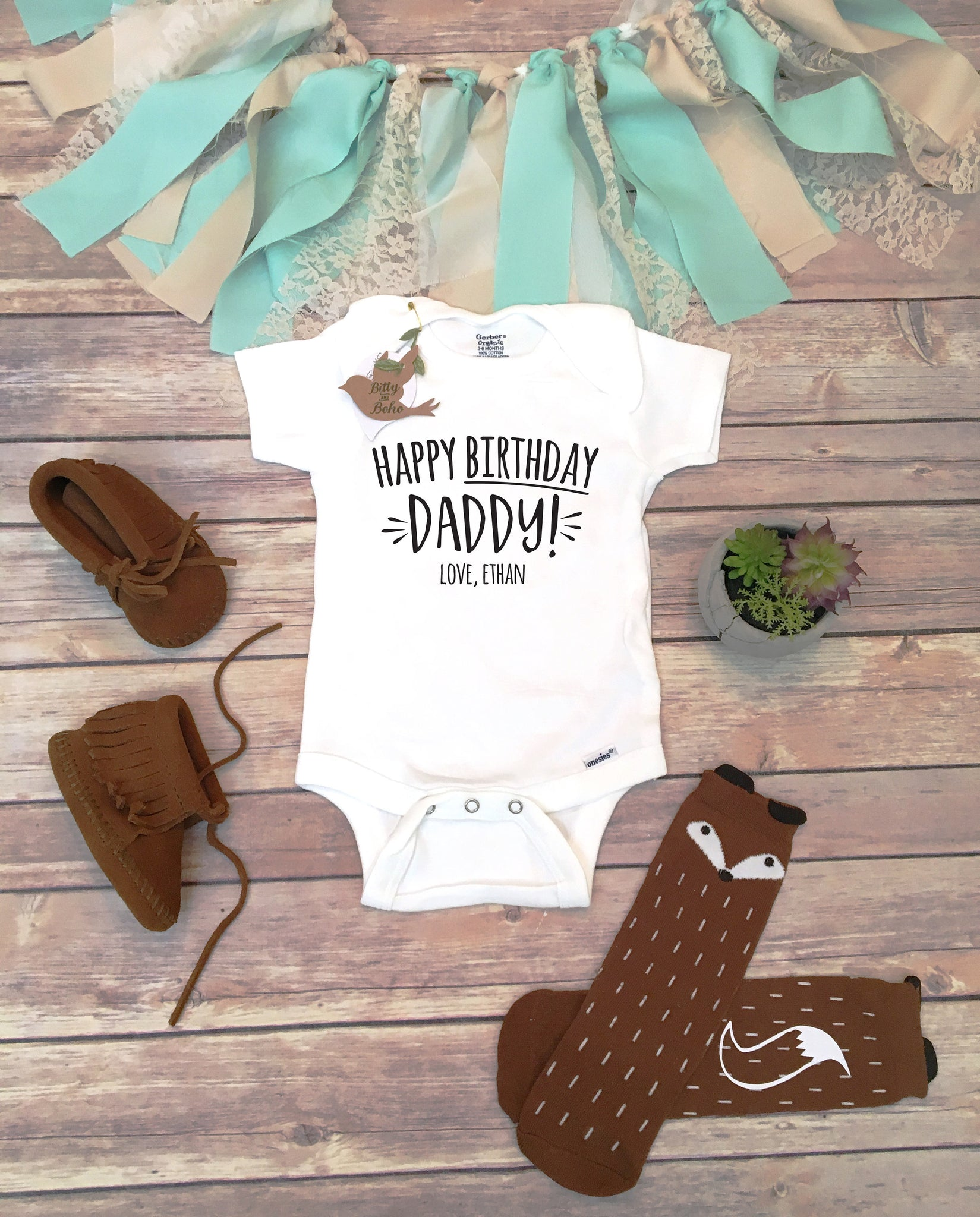 Happy Birthday Daddy OnesieR Onesie Gift For Husband Dad