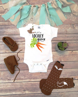 Locally Grown Onesie® - Carrots - Bitty & Boho