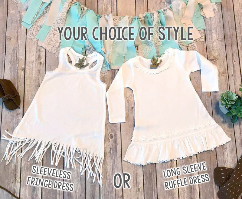 Two Wild Birthday Dress, Second Birthday Outfit Girl, 2nd Birthday Outfit Girl, Second Birthday Girl Dress Boho Fringe Dress Cactus Birthday - Bitty & Boho