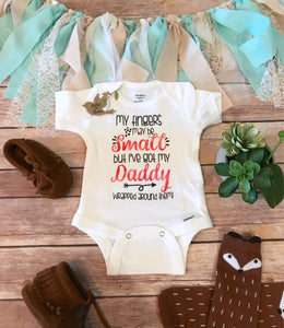 My Fingers May Be Small But I've Got My Daddy Wrapped Around Them Onesie® - Daddy's Girl