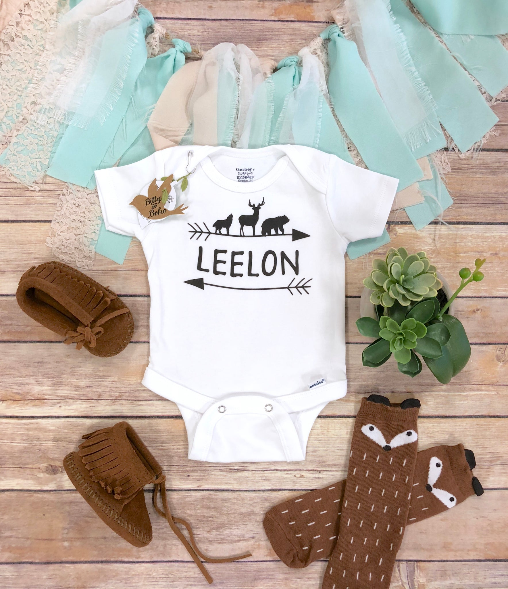 c9ba5f93 Newborn Boy Coming Home Outfit - Country Baby Name Onesie® – Bitty ...