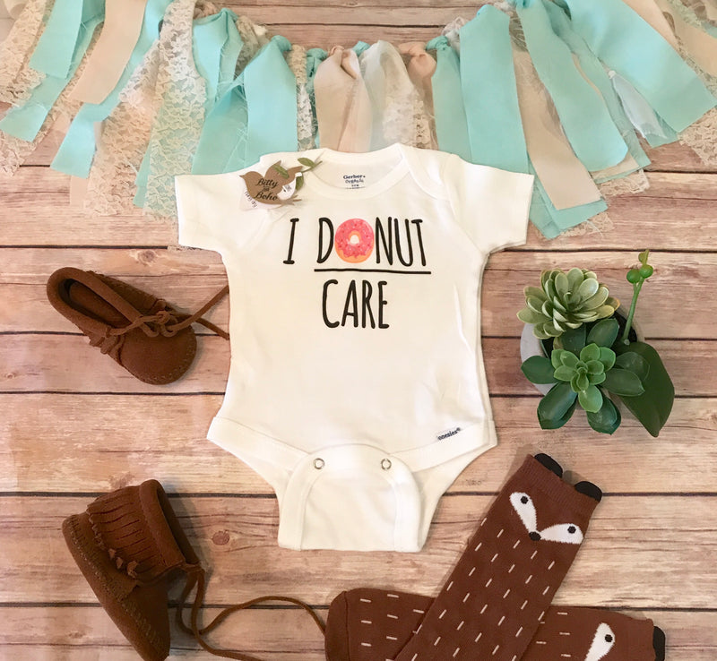 I Donut Care Onesie® - Bitty & Boho