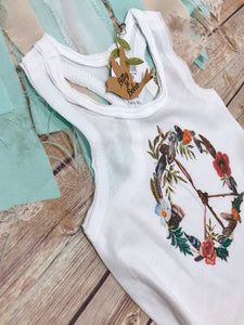 Peace Sign Hippie Baby Dress