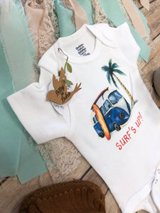Surf Onesie®,  Baby Shower Gift, Surf's Up Baby Onesie, Hipster Baby, Cute Baby Clothes, Hawaii Baby Onesie, Baby Boy Clothing, Surfer Baby